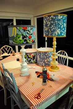 Vintage fabric lamp shades - Beach Vintage Blog
