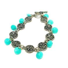 Children's Turquoise Bracelet Charm by prettylittlepretties, $10.00