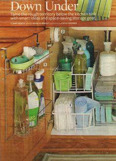 Organization: small spaces (bathroom, kitchen)