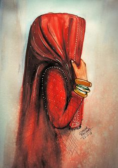 Watercolor Painting - Omkar khochareYou can find Indian paintings and more on our website. Indian Art Paintings, Modern Art Paintings, Indian Women Painting, Islamic Paintings, Rajasthani Painting, Indian Folk Art, India Art, Watercolor Paintings, Painting Art