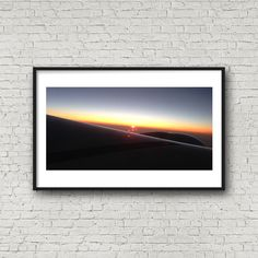 Jet Sunset Panoramic | Elegant | Simple | Photography | Wall art | Modern | Printable | Instant download 4x8 to 24x48 by ImagineCreateDo on Etsy