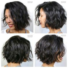 wellige Bob-Frisuren - Bob Hairstyles and Short Cuts - - My list of woman hairstyles Medium Hair Cuts, Medium Hair Styles, Curly Hair Styles, Haircut Medium, Short Hair Cuts For Women, Short Cuts, Wavy Bob Haircuts, Chin Length Hair, Bobs For Thin Hair