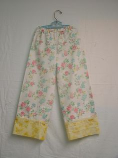 Vintage Pillowcase Pants Tutorial – making a pattern from measurements… ~ http://minivanlife.wordpress.com/2009/09/20/vintage-pillowcase-pants-tutorial-making-a-pattern-from-measurements/