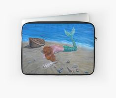 Laptop Sleeve,  mermaid,fantasy,colorful,aqua,blue,unique,cool,beautiful,trendy,artistic,unusual,accessories,design,items,products,for sale,redbubble