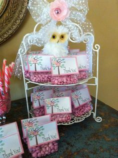 baby girls baby shower, candy as favors