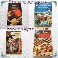 What's your favorite cookbook?  I love using my old Betty Crocker  but also enjoy using others as well. #vintage #cooking #cookbook #recipes #book #etagereantiques #gotvintage #shopping #shopsmall #shoponline #shopvintage
