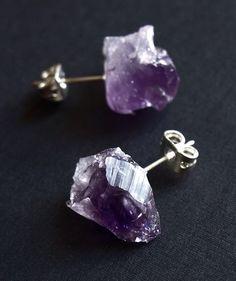 Geode amethyst earrings