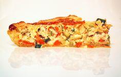 Zomerse quiche met chorizo - heeeerlijk. Verse kruiden uit de tuin, rozemarijn mag niet ontbreken