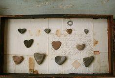 heart rocks wall art