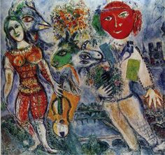 Marc Chagall - The Players 1968 HD