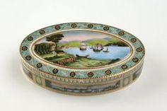 A Fine And Rare Gold And Enamel Snuff Box