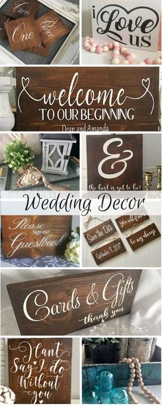"Small personal touches for your wedding can make it amazing! Plus after you say ""I do"" you can keep these on your mantle or above your bed to always remember the big day! #weddings #weddingdecor #rustic #rustic wedding #ad"