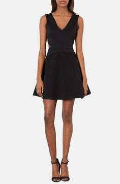 Topshop Cutout Skater Dress