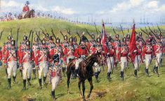 1st Foot Guards at the Battle of Corunna on 16th January 1809 in the Peninsular War: picture by Reginald Wymer