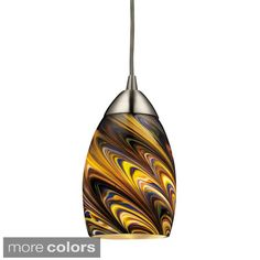 Elk Lighting Mini Vortex 1-Light Satin Nickel Pendant
