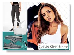 """""""Calvin Klein fitness"""" by amy-musiclover3 on Polyvore featuring Fitbit, Calvin Klein and New Balance"""
