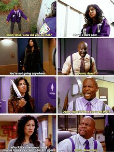 Funny Pictures Of Terry Vs. Rossa By Brooklyn Nine Nine Brooklyn Nine Nine Rosa, Brooklyn 9 9, Series Movies, Tv Series, Detective, Cinema Tv, Parks N Rec, The Nines, Comic