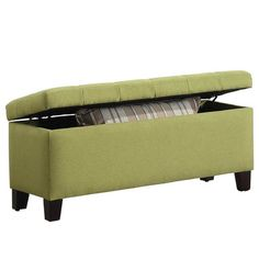 WorldWide HomeFurnishings Fabric Storage Ottoman & Reviews   Wayfair