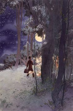 I believe that magic can strike anyone.   thefae: 2010Charles Vess forN. Gaiman's Stardust