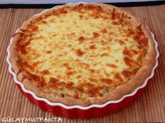 Zucchini, Onion Tart, Turkish Recipes, Homemade Beauty Products, Food And Drink, Pizza, Cheese, Breakfast, Desserts
