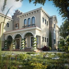 Tuscan Villa Dream home design #nceminentdomainlawfirm