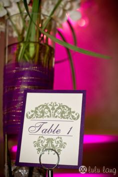 Wedding table numbers | Lulu Lang