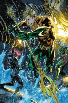 Pencil: Ivan Reis ink: Color: Just did this for fun. Aquaman sample page one Aquaman Dc Comics, Dc Comics Superheroes, Dc Comics Characters, Dc Comics Art, Marvel Vs, Marvel Dc Comics, Comic Books Art, Comic Art, Page One