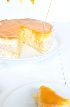 Exotischer Kurumba Cheesecake von Johanna und Annalena - die beiden Süßen sind mit 13 und 16 noch zu jung, um am Wettbewerb teilzunehmen, wollten aber unbedingt trotzdem Ihr Kokosnussiges Rezept zeigen <3