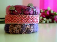 Knitted Bracelets KB 15 WINTER MOOD Set of 3 by Vladilenashandmade, $20.00
