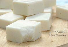 Coconut White Chocolate Fudge - Vegan, Dairy & Gluten-Free ( for vegan don't use honey)