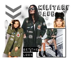 Military Babe by lasula on Polyvore featuring military, lasula and Lasulaboutique