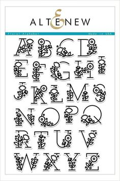 English Alphabet Clear Stamp with flower / Creative Letter S.-English Alphabet Clear Stamp with flower / Creative Letter Silicone Stamp / Clear Stamp / Scrapbooking Stamp / Bullet Journal Stamp - Pretty Fonts Alphabet, Cursive Alphabet, Hand Lettering Alphabet, Alphabet Stamps, Doodle Lettering, Creative Lettering, Doodle Fonts, Doodle Alphabet, Pretty Letters