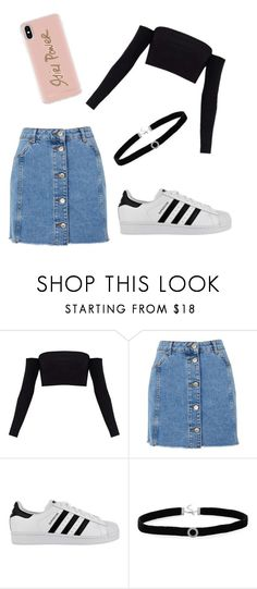 """""""Untitled #26"""" by kacis-kacis on Polyvore featuring Topshop, adidas, BillyTheTree and Rebecca Minkoff"""