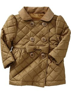 This is so cute!!  Old Navy Quilted Double Breasted Trench Coats For Baby
