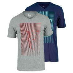 Men`s Roger Federer Trophy Short Sleeve V Neck Tennis Tee Camisas Maneiras 5b7e8efaad9ec
