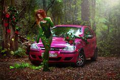 #poison #ivy  #batman  #dc  #dcComics  #dc #comics #supergirl  #pinkcar #forest #green  #natural #cosplay