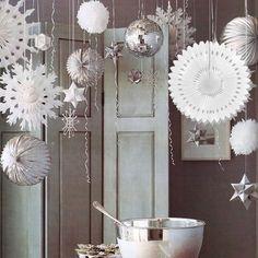 abanicos de papel para colgar de navidad para navidad y artculos decorativos para fiestas