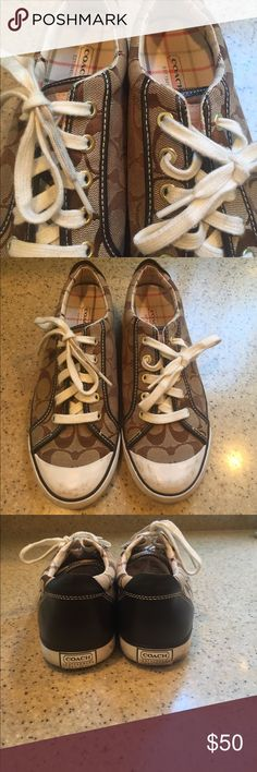The real deal COACH shoes! Lightly worn Coach shoes! Goes with any outfit!! Coach Shoes Sneakers