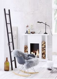 Fluffy and Cozy Winter Inspired Interiors  20 photos Interiorforlife.com The place I want to in when the cold strikes