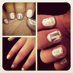 #newsprint #nails #diy #picstitch