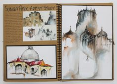 A2 Fine Art A3 Brown Sketchbook Sunga Park Artist Study CSWK Structure and Environment 2016 Thomas Rotherham College