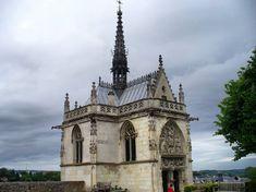 Chapel of Saint-Hubert, Amboise, France. Da Vinci's Tomb.