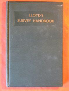 Lloyd's Survey Handbook (1952) by Pistilbooks on Etsy