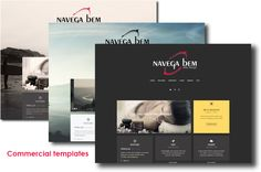 #Commercial #website #templates