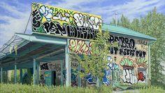 Valeri Larko's Realistic Graffiti Oils come to Wall Works - http://art-nerd.com/newyork/valeri-larkos-realistic-graffiti-oils-come-to-wall-works/