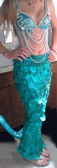 Mermaid Tail Costume full by AverillHolistics on Etsy, $299.00                                                                                                                                                     More