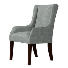 Red Barrel Studio Larrabee Wingback Chair Upholstery: Green/Gray