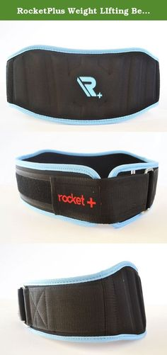"""RocketPlus Weight LIfting Belt, For Crossfit, Weight Training, Back Support, Blue and Black For Men And Women. RocketPlusLifting Belt are ergonomically designed to provide Firm & Comfortable Lumbar Support support during any kind of Strength Training. 6"""" Inch Wide Waterproof foam core with our brushed tricot lining and soft bound edges and Adjust to fit snugly for proper effect with low profile torque ring and Velcro closure. Reduce spinal flexion creating safer biomechanics when lifting…"""