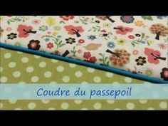 coudre le passepoil - YouTube