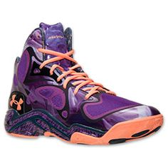 Men's Under Armour Micro G Anatomix Spawn Basketball Shoes| FinishLine.com | Pride/Academy/Afterglow